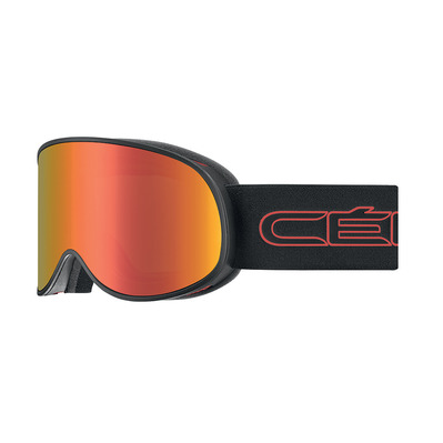 CEBE - ATTRACTION - Masque ski matt black/red/grey dark flash red + amber flash mirror
