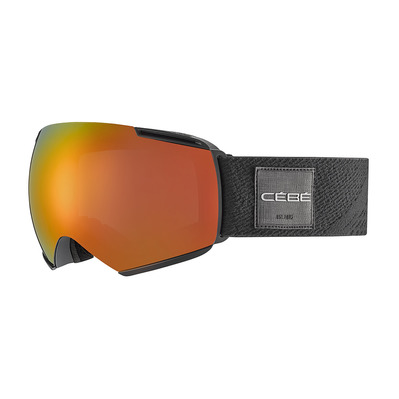 CEBE - ICONE - Masque ski matt black/fire/grey dark flash red + amber flash mirror