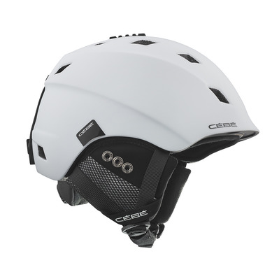 CEBE - IVORY - Casque ski matt white/black