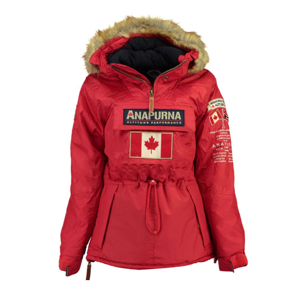 Rouge Anapurna Chasuble Femme Veste de Ski