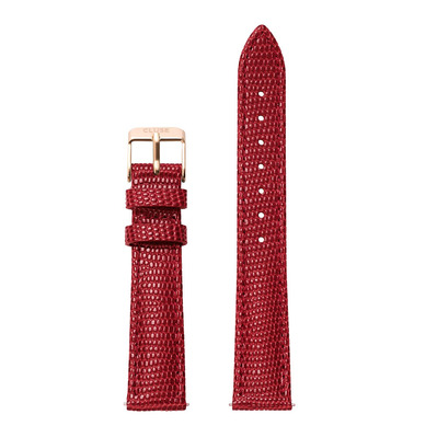 CLUSE - MINUIT 16 - Correa red dark lizard/gold pink