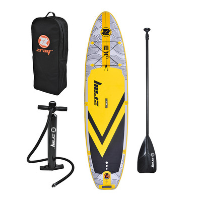 Z-RAY - EVASION EPIC 11' 2020 - Inflatable SUP Board - grey/yellow + Accessories
