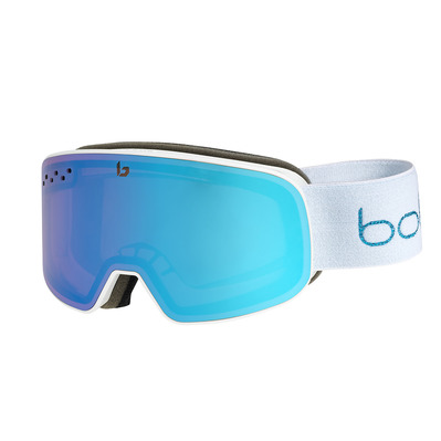 BOLLE - NEVADA SMALL WHITE METALLICBLUE MATTE Aurora Cat 2 Unisexe WHITE METALLIC BLUE MATTE