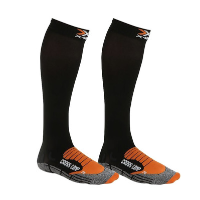 XSOCKS - X-Socks CROSS COMP - Calze black/orange/anthracite