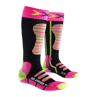 XSOCKS - X-Socks SKI - Calze Junior fushia/yellow