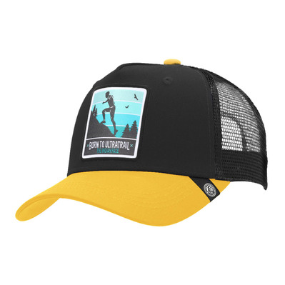 THE INDIAN FACE - BORN TO ULTRATRAIL - Cap - black/yellow