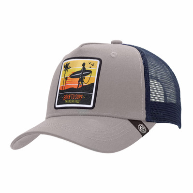 THE INDIAN FACE - BORN TO SURF - Cap - grey/blue