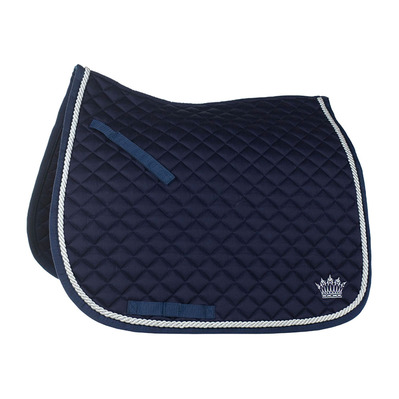 HORZE - SILVER CORD - Dressage Saddle Pad - dark blue