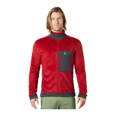 MOUNTAIN HARDWEAR - MONKEY FLEECE - Polar hombre dark brick