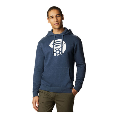 MOUNTAIN HARDWEAR - MHW LOGO - Sudadera hombre heather dark zi