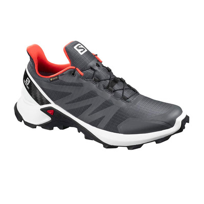SALOMON - SUPERCROSS GTX - Zapatillas de trail hombre ebony/white/cherry
