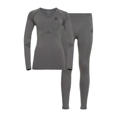 ODLO - PERFORMANCE EVOLUTION LIGHT - Maglia termica + Calzamaglia Donna odlo steel grey/odlo graphite grey