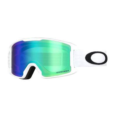 OAKLEY - LINE MINER - Masque ski Junior matte white/prizm snow jade iridium