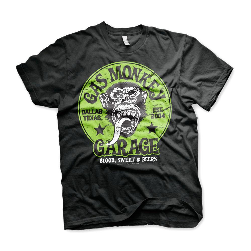 GAS MONKEY Gas Monkey Garage LOGO - Camiseta hombre black/green - Private Sport Shop