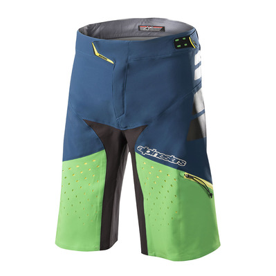 ALPINESTARS - DROP PRO - Short Homme poseidon blue summer green
