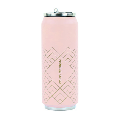 YOKO DESIGN - ART DECO - Lattina isotermica 500ml pink art