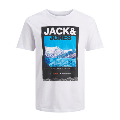 JACK & JONES - MALE JCOMOUNTAIN - Tee-shirt Homme white
