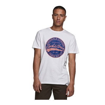 JACK & JONES - JORBARNEY - Tee-shirt Homme cloud dancer