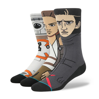 STANCE - STARWARS THE FORCE AWAKENS - Calze x3 Uomo black