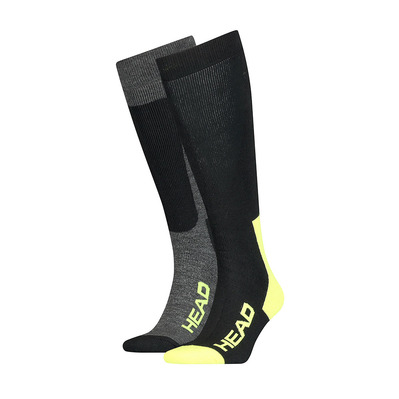 HEAD - 100000159002039 - Calze x 2 black/grey/yellow