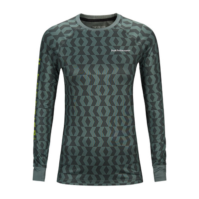 PEAK PERFORMANCE - SPIRIT - Maglia termica Donna pattern green