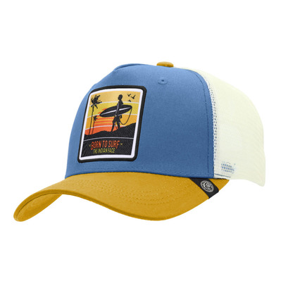 THE INDIAN FACE - BORN TO SURF - Cap - blue/yellow/white
