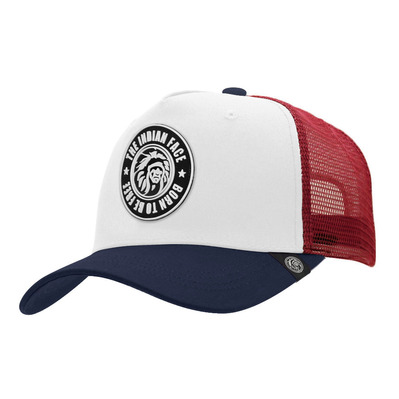 THE INDIAN FACE - BORN TO BE FREE - Casquette white/blue/red