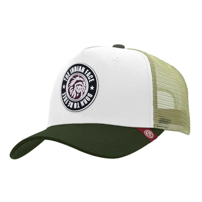 THE INDIAN FACE - BORN TO BE FREE - Cap - white/green