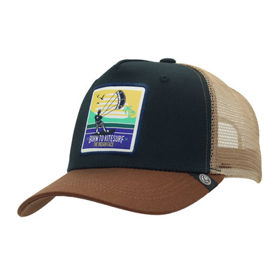 THE INDIAN FACE - BORN TO KITESURF - Casquette blue/brown