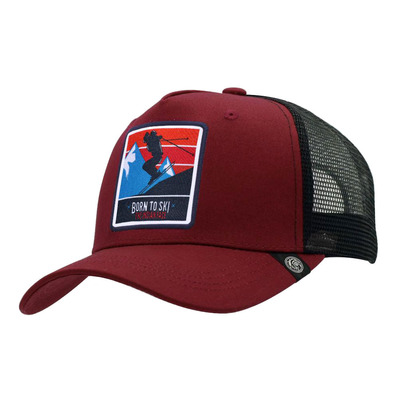THE INDIAN FACE - BORN TO SKI - Casquette red/black
