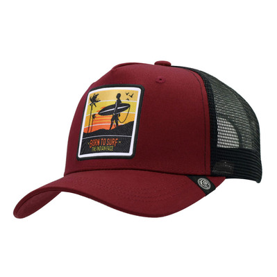 THE INDIAN FACE - BORN TO SURF - Casquette red/black
