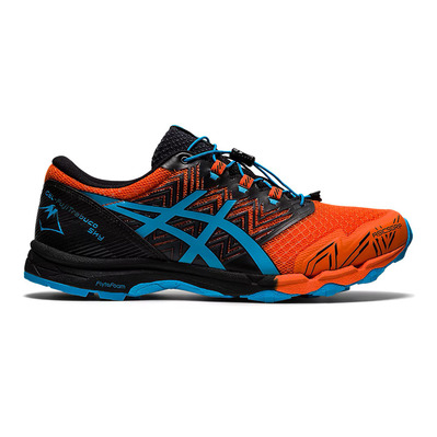 ASICS - GEL-FUJITRABUCO SKY - Trail Shoes - Men's - marigold orange/digital aqua