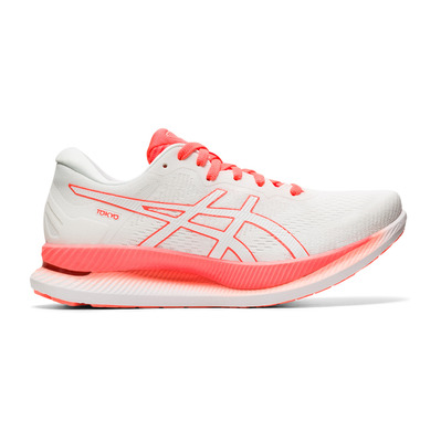 ASICS - GLIDERIDE TOKYO - Running Shoes - Women's - white/sunrise red