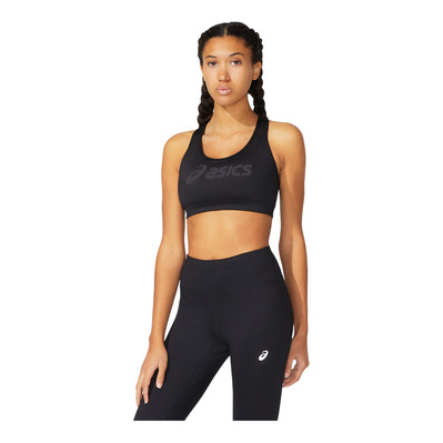 ASICS - LOGO - Brassière Femme performance black/performance black