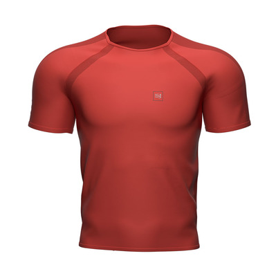 COMPRESSPORT - TRAINING - Maglia Uomo red clay