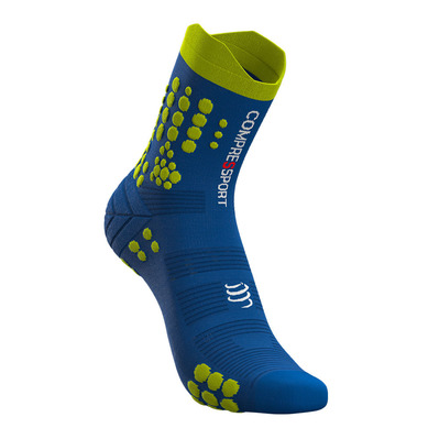 COMPRESSPORT - PRO RACING V3.0 TRAIL - Calze blue lolite/lime