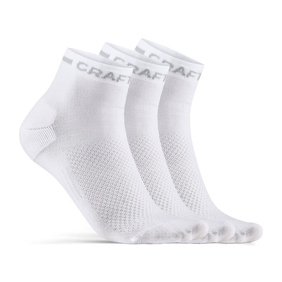CRAFT - CORE DRY MID - Calze x3 white