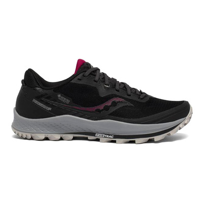 SAUCONY - PEREGRINE 11 GTX - Chaussures trail Femme black/cherry