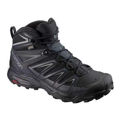 SALOMON - X ULTRA 3 WIDE MID GTX - Hiking Shoes - Men's - black/india ink/monument