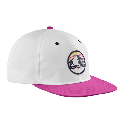 SALOMON - TRUCKER FLAT - Casquette white/fuchsia red