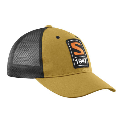 SALOMON - TRUCKER CURVED - Cap - cumin/black