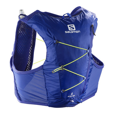 SALOMON - ACTIVE SKIN 4L - Sac d'hydratation clematis b/safety yel