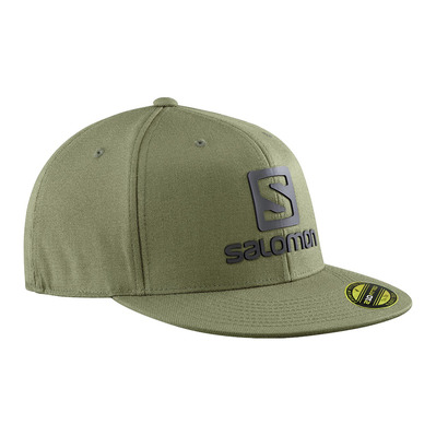 SALOMON - LOGO FLEXFIT - Gorra olive night