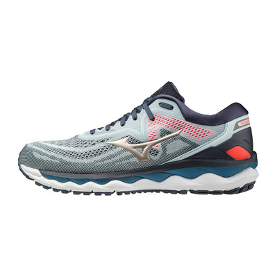 MIZUNO - WAVE SKY 4 - Chaussures running Homme wan blue/platinum gold/india ink