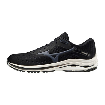 MIZUNO - WAVE RIDER 24 - Chaussures running Homme black/india ink/snow white
