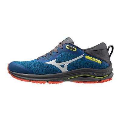 MIZUNO - WAVE RIDER TT 2 - Running Shoes - Men's - directory blue/dawn blue/mandarin red