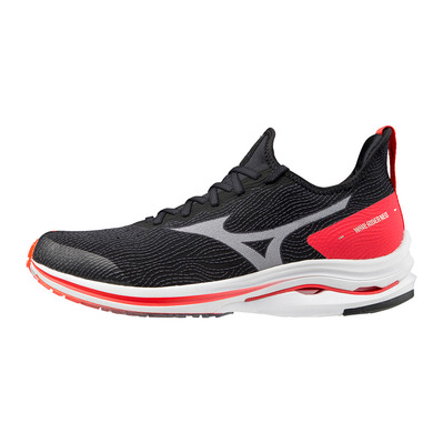 MIZUNO - WAVE RIDER NEO - Chaussures running Homme black/white/ignition red