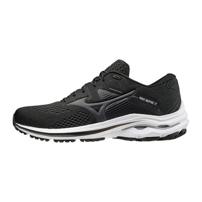 MIZUNO - WAVE INSPIRE 17 - Chaussures running Homme black/dark shadow/lunar rock