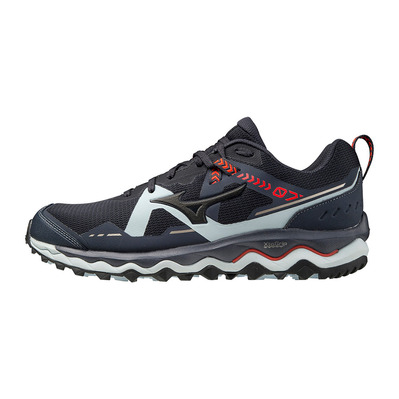 MIZUNO - WAVE MUJIN 7 - Trail Shoes - Men's - india ink/black/ignition red