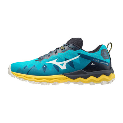 MIZUNO - WAVE DAICHI 6 - Trail Shoes - Men's - scuba blue/snow white/sulphur